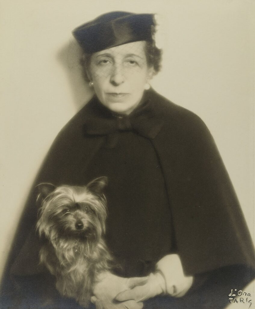 Self-portrait with a dog © Estate of Madame d'Ora, Museum for Art and Crafts Hamburg