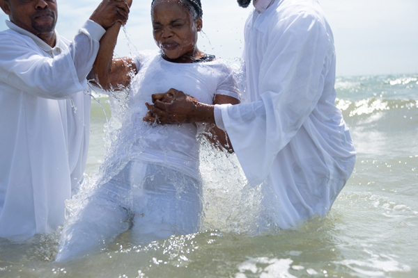 'Made for Mission' project - Baptism on Brighton Beach © Sandra Harper