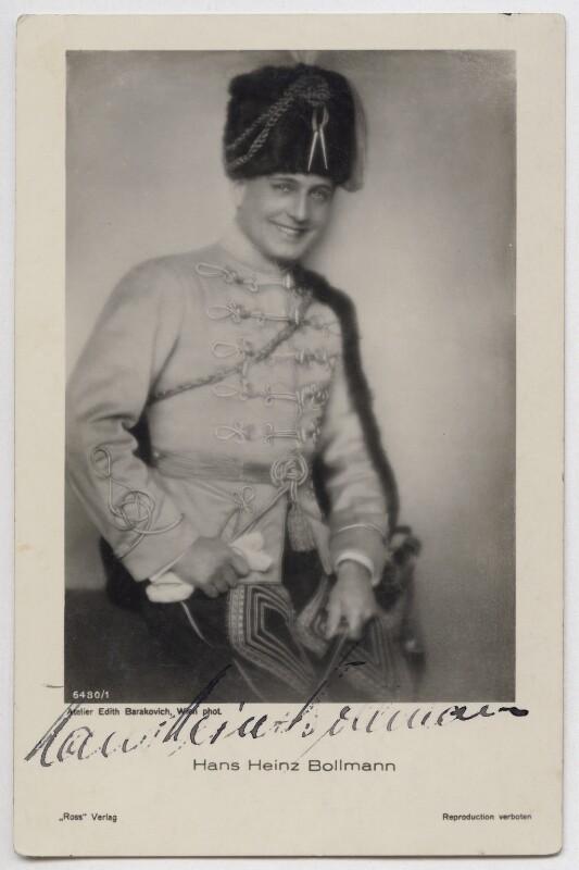 Edith Barakovich Photograph of Hans Heinz Bollmann