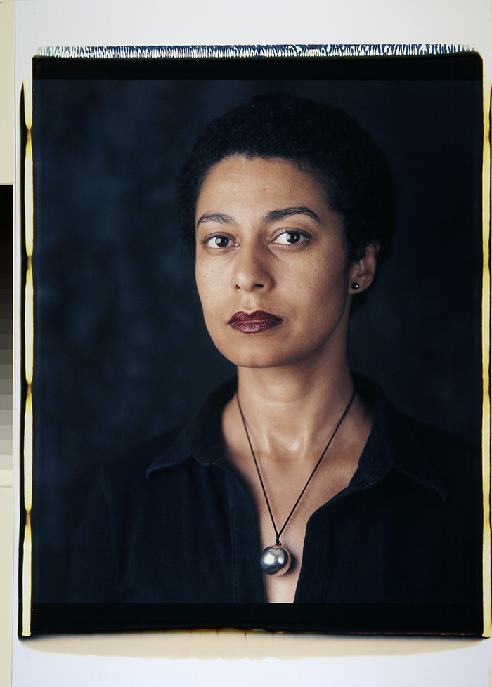 Maud Sulter, Self Portrait, 2002, 828 x 560 mm, large format Polaroid photograph. The Estate of Maud Sulter ©The Estate of Maud Sulter.