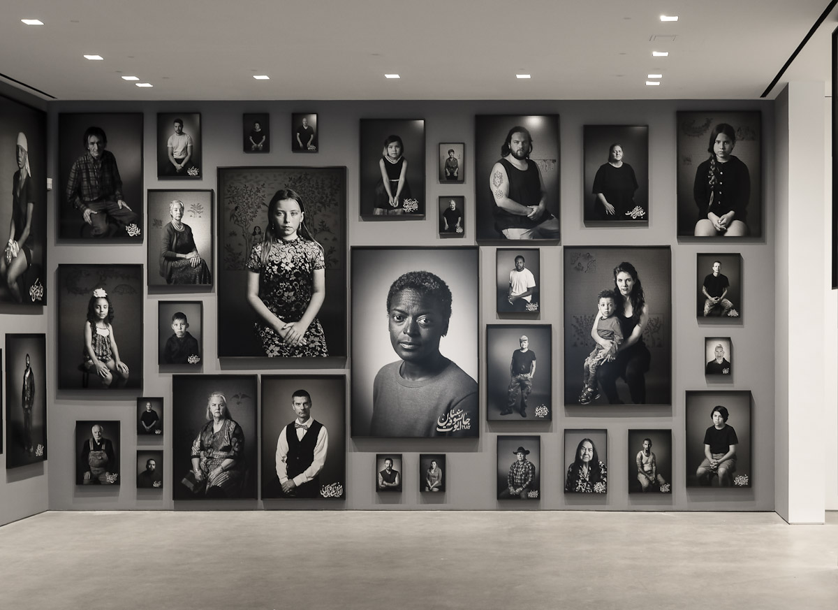 Installation view, Shirin Neshat: Land of Dreams , at Gladstone Gallery, New York, 2021 Courtesy the artist and Gladstone Gallery, New York and Brussels