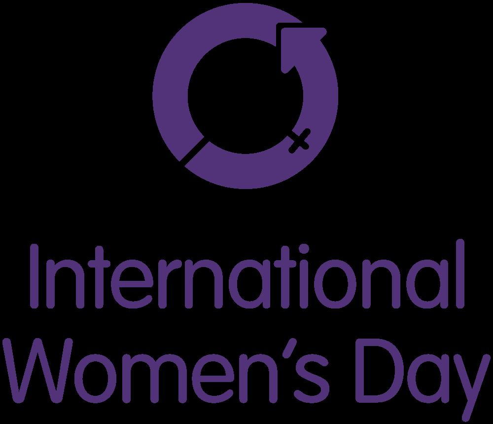 PURPLE INTERNATIONAL WOMENS DAY LOGO