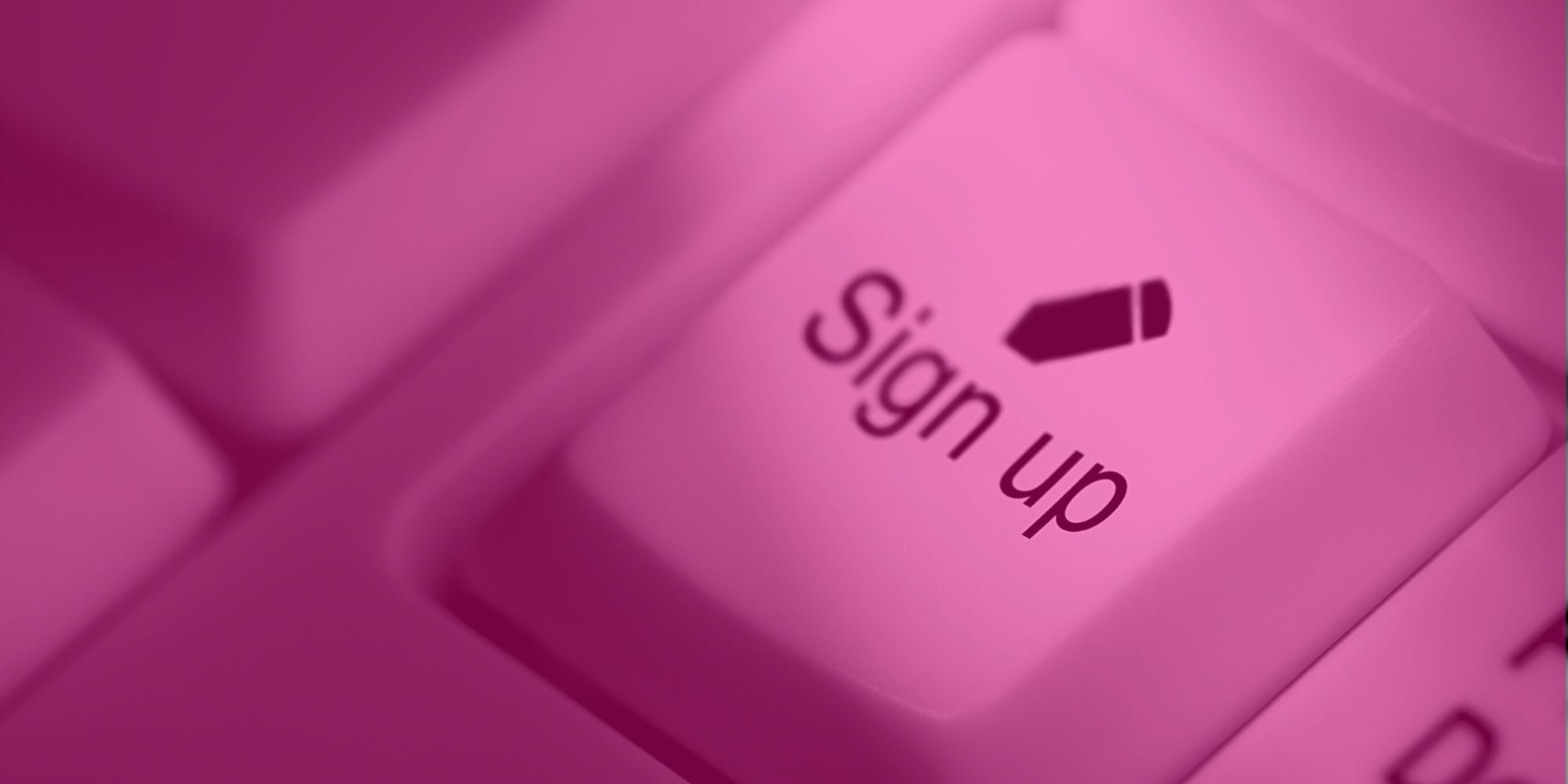 """Sign Up to Bootcamp. Image: a computer keyboard icon saying """"Sign Up"""""""