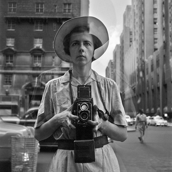 Self Portrait Vivian Maier, New York, 1954.© Estate of Vivian Maier, Courtesy of Maloof Collection and Howard Greenberg Gallery, NY.