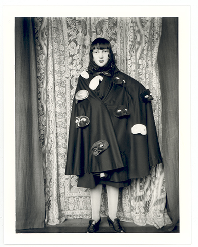 Self portrait (in robe with masks attached) © Claude Cahun. Courtesy of the Jersey Heritage Collections