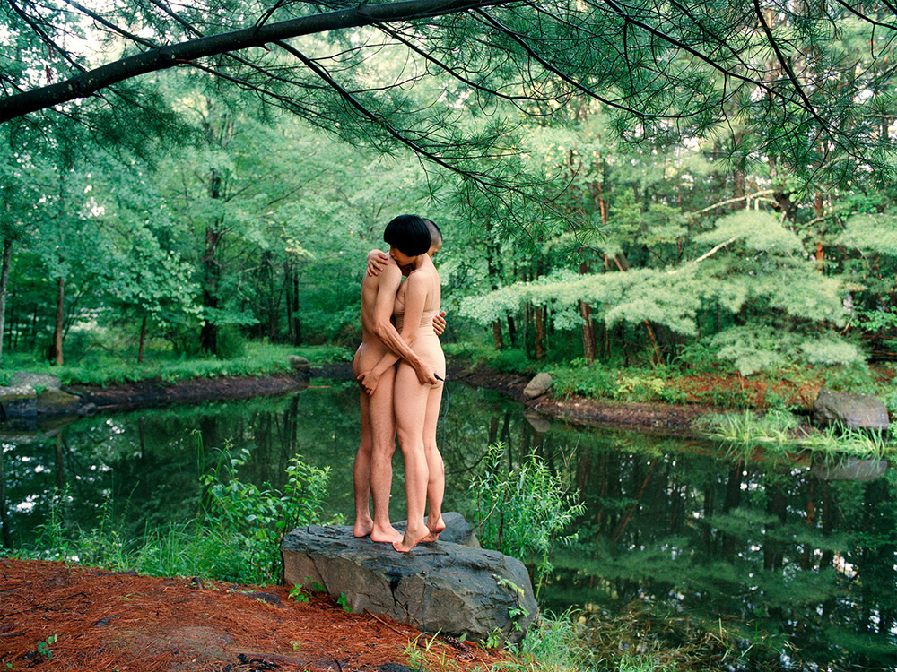 """""""Hug by the Pond, 2010 """", from Experimental Relationship series © Pixy Liao"""