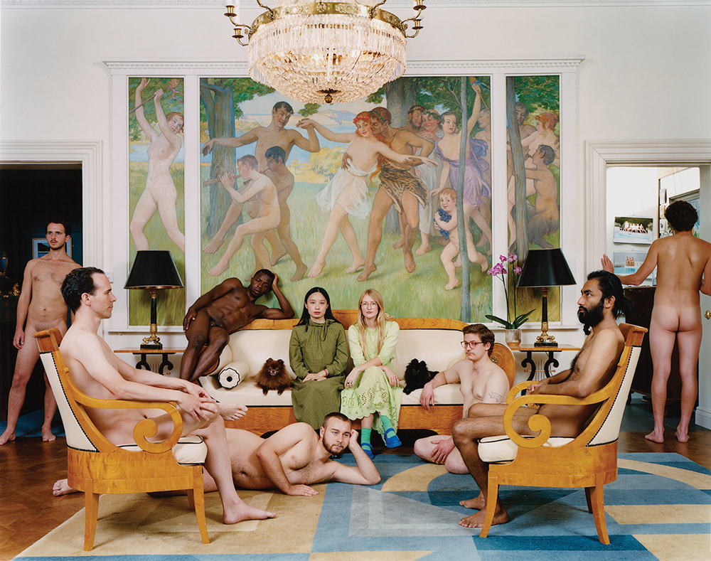 Yushi Li, The Feast, inside, 2020. Postures and Posers.