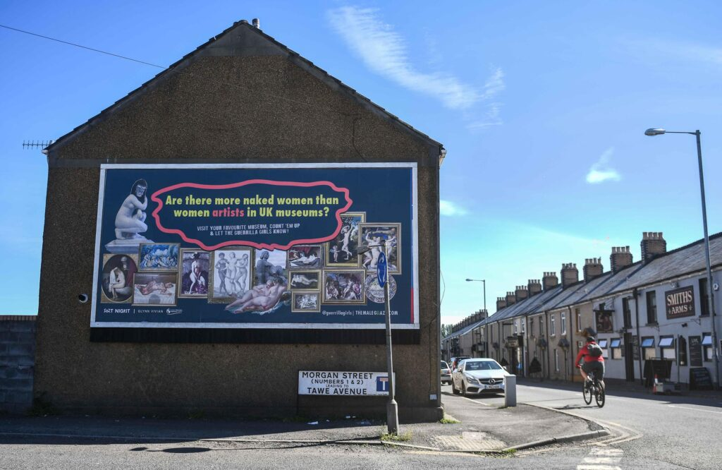 rt Night billboard, Swansea