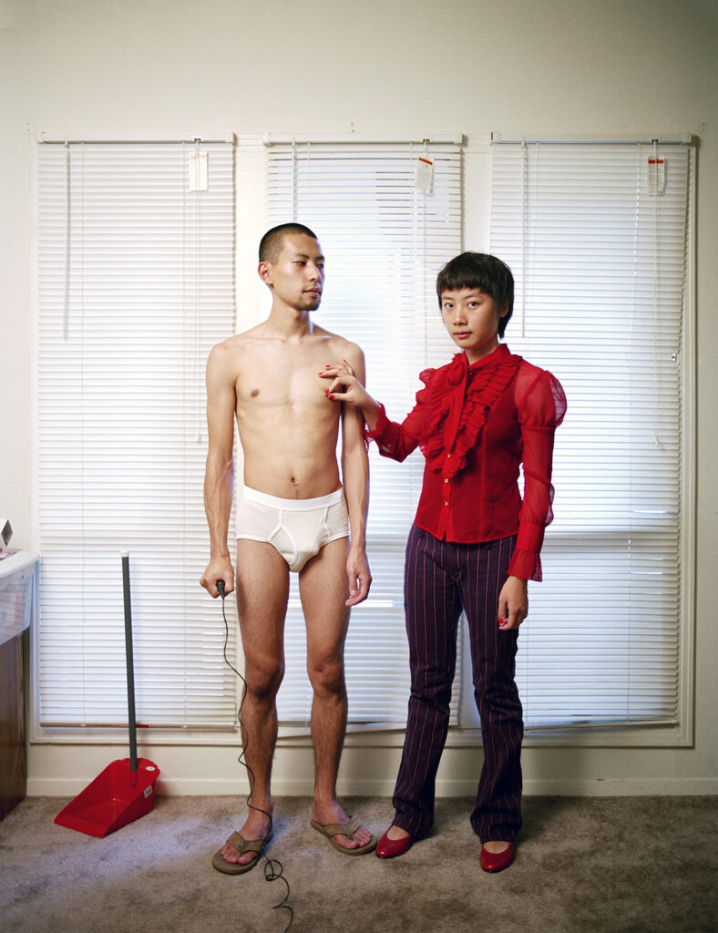 Relationships work best when each partner knows their proper place, from the Experimental Relationship series, 2008. © Pixy Liao_Hundred_Heroines_Women_In_Photography
